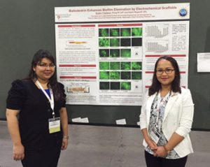 Sujala Saltana, left, and Mia Kiamco attend the Symposium of Advanced Wound Care in spring 2016